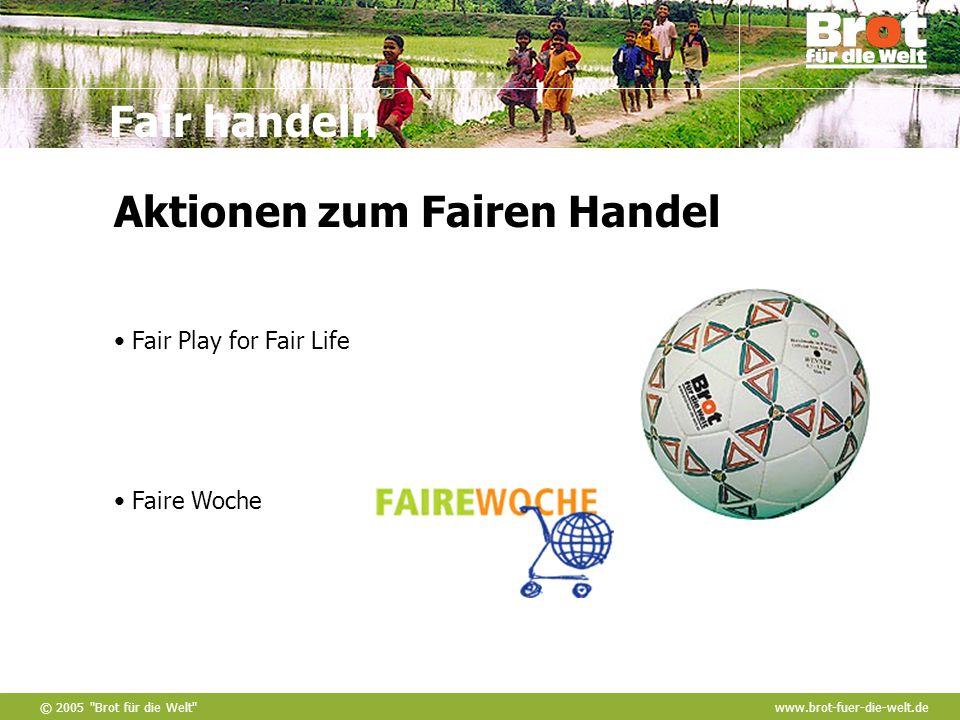 Aktionen zum Fairen Handel