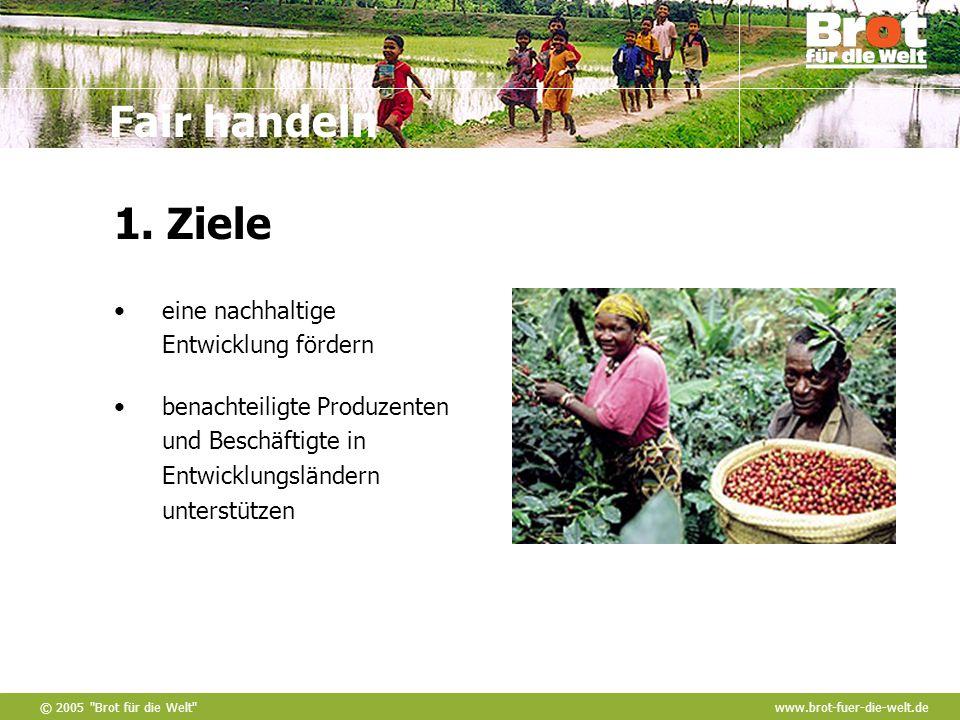 1. Ziele eine nachhaltige Entwicklung fördern