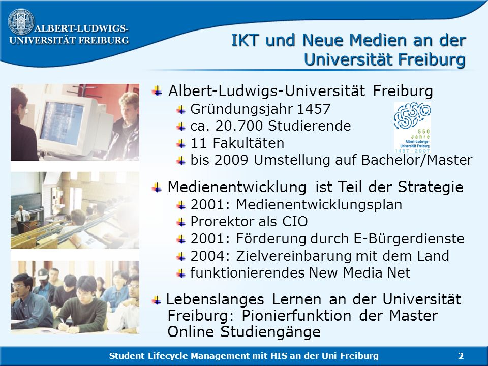 Student Lifecycle Management mit HIS an der Uni Freiburg