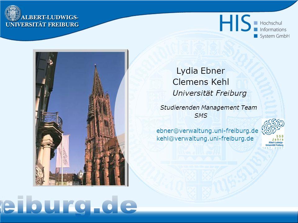 www.studium.uni-freiburg.de Lydia Ebner Clemens Kehl