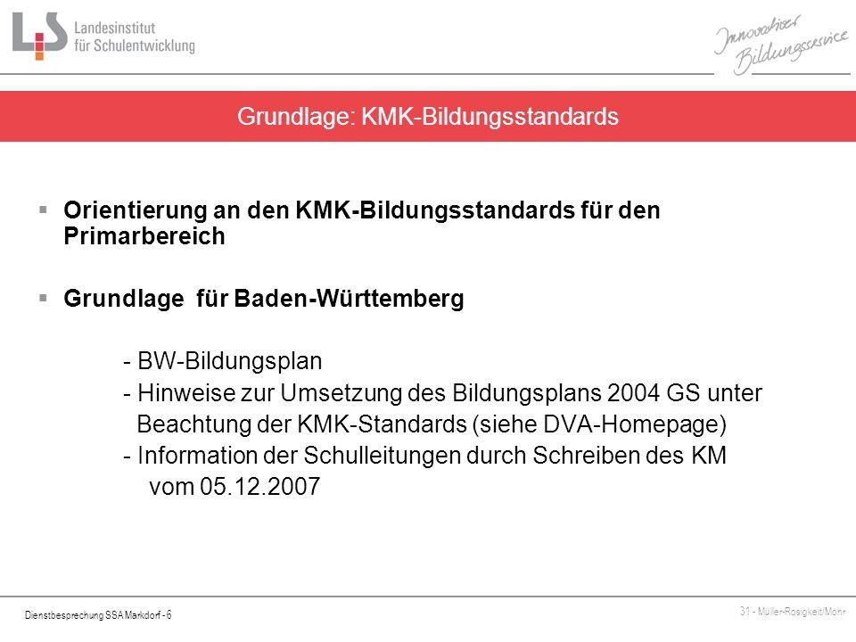 Grundlage: KMK-Bildungsstandards