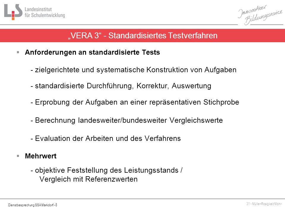 """""""VERA 3 - Standardisiertes Testverfahren"""