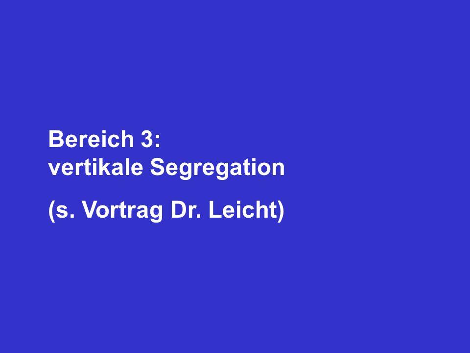 Bereich 3: vertikale Segregation