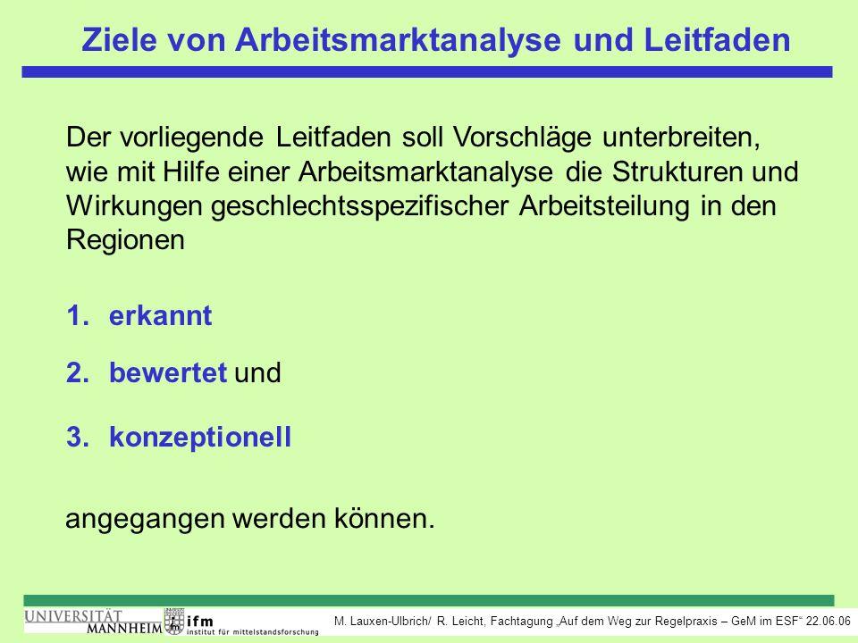 Ziele von Arbeitsmarktanalyse und Leitfaden
