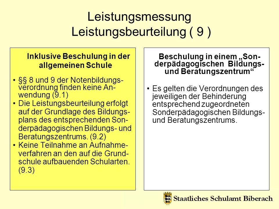 Leistungsmessung Leistungsbeurteilung ( 9 )