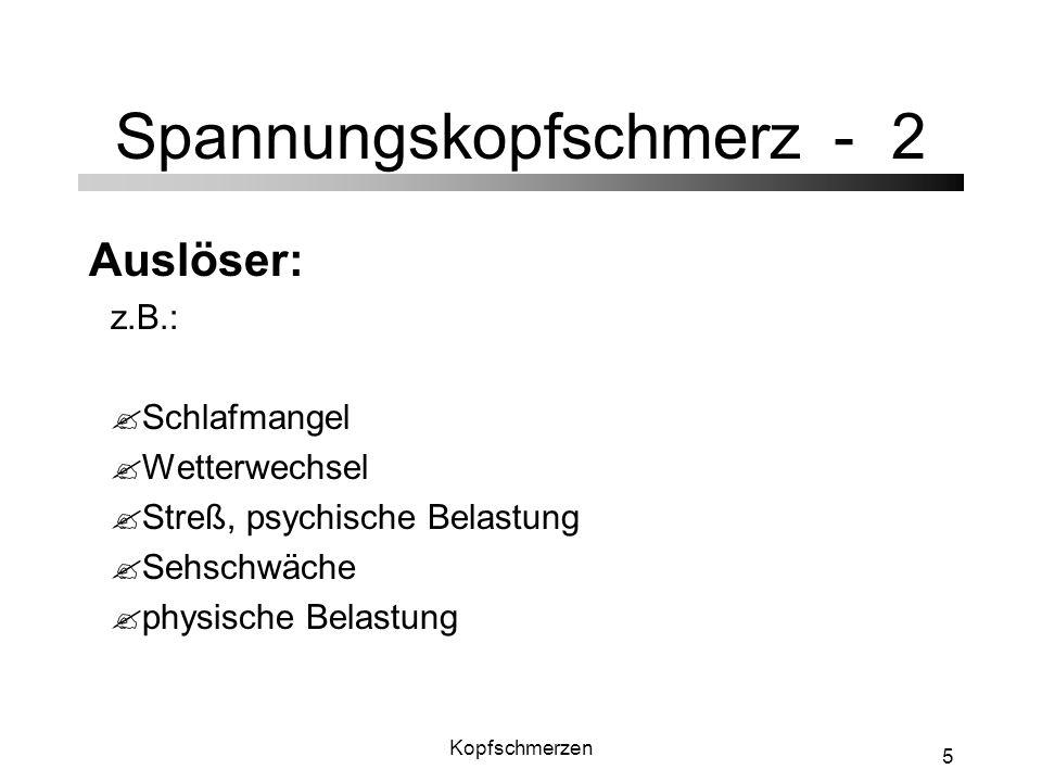 Spannungskopfschmerz - 2