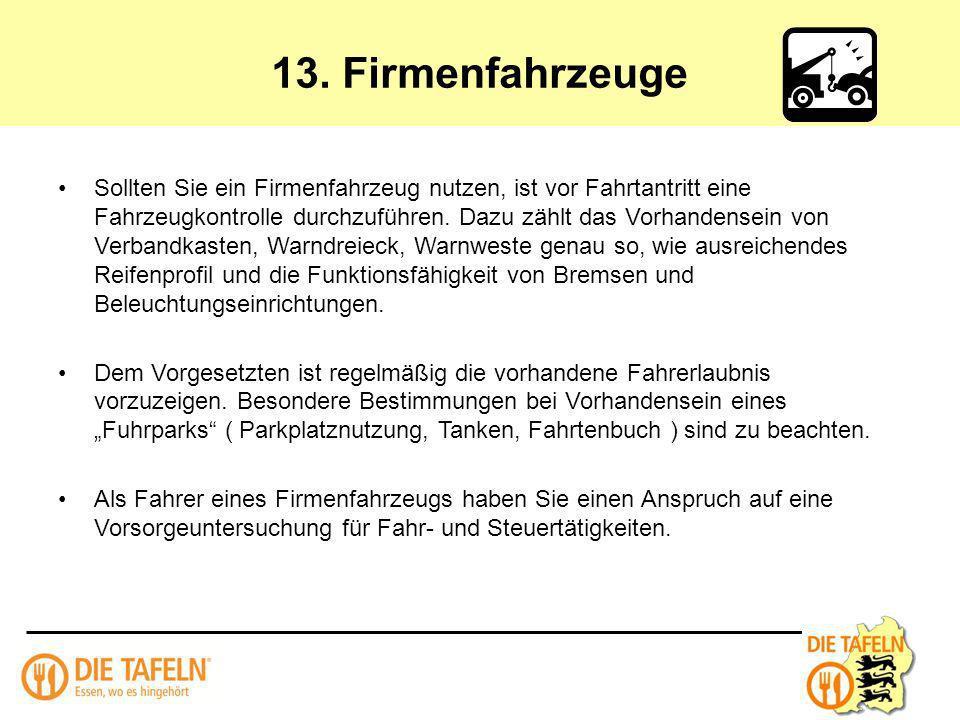13. Firmenfahrzeuge