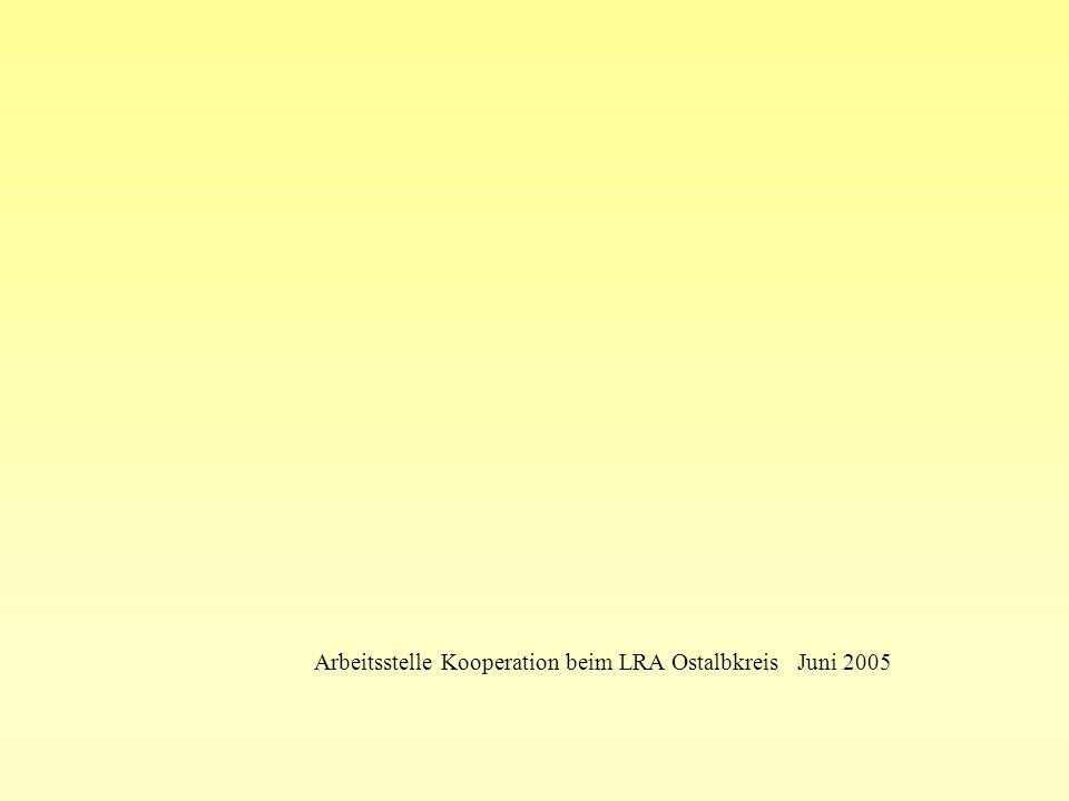 Arbeitsstelle Kooperation beim LRA Ostalbkreis Juni 2005