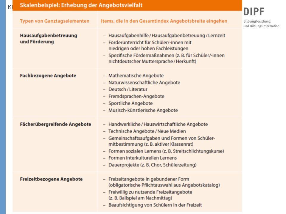 Klieme: Studie zur Entwicklung von Ganztagsschulen, KMK, Bonn 3. 12