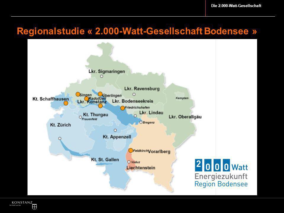 Regionalstudie « 2.000-Watt-Gesellschaft Bodensee »