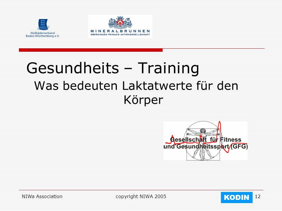 Gesundheits – Training