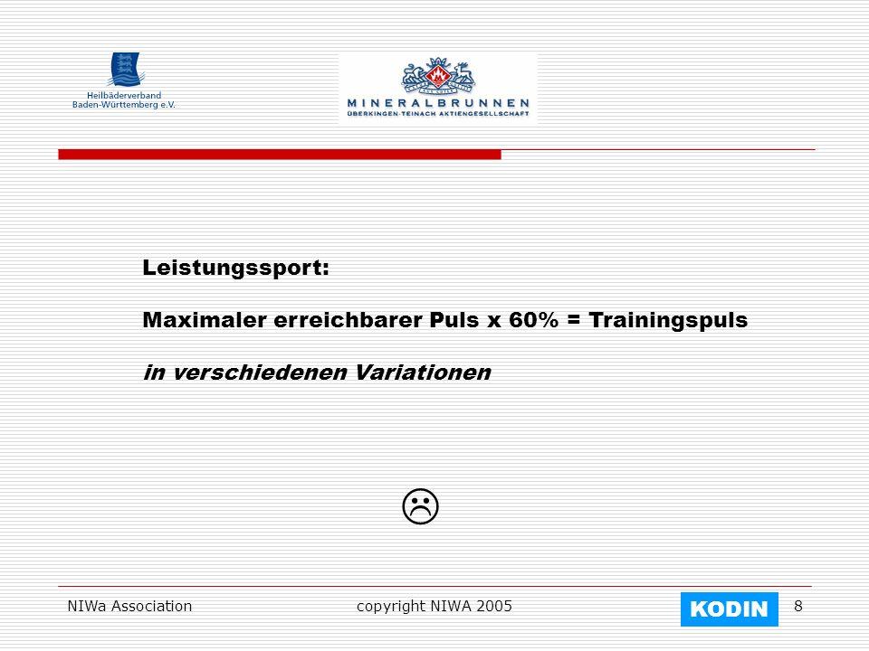  Leistungssport: Maximaler erreichbarer Puls x 60% = Trainingspuls