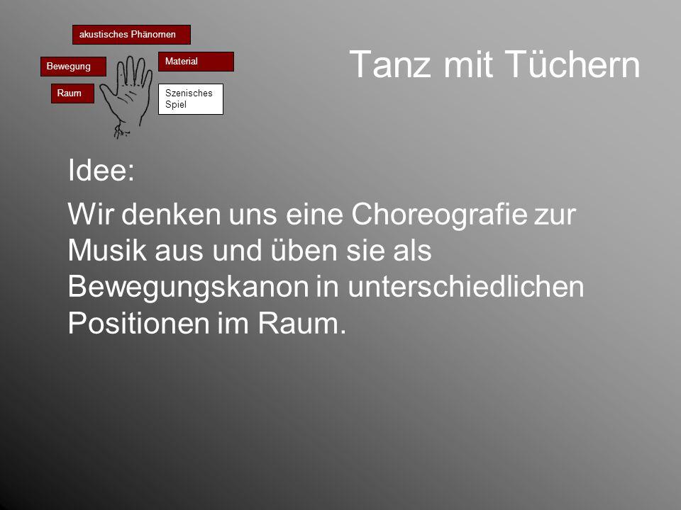 Tanz mit Tüchernakustisches Phänomen. Bewegung. Material. Raum. Szenisches Spiel. Idee:
