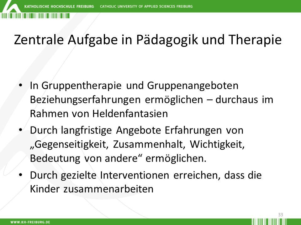 Zentrale Aufgabe in Pädagogik und Therapie