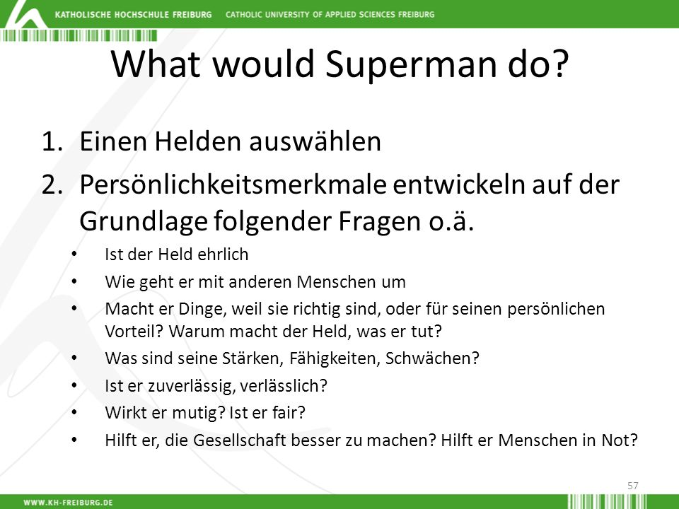 What would Superman do Einen Helden auswählen