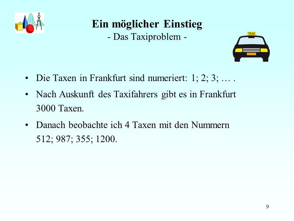 Ein möglicher Einstieg - Das Taxiproblem -
