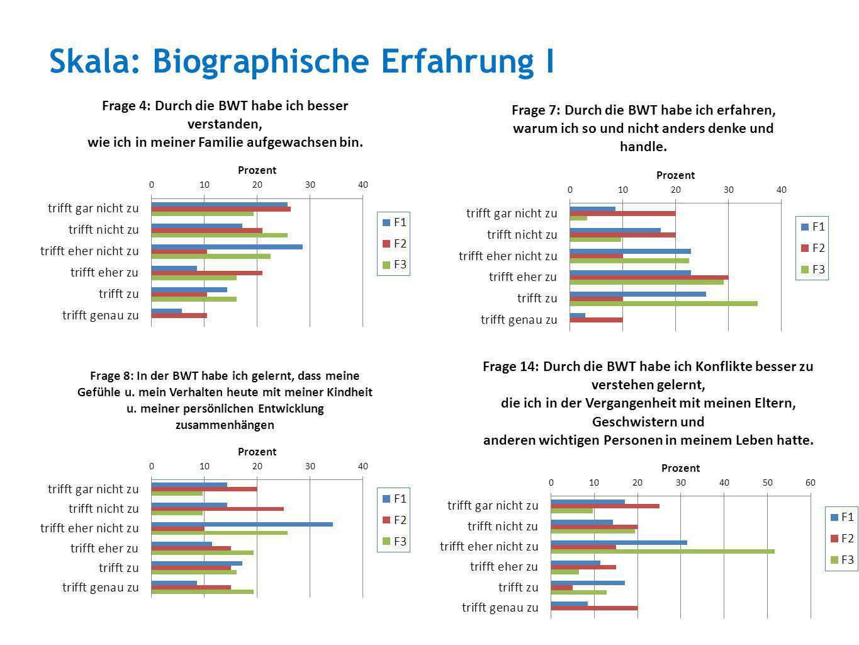 Skala: Biographische Erfahrung I
