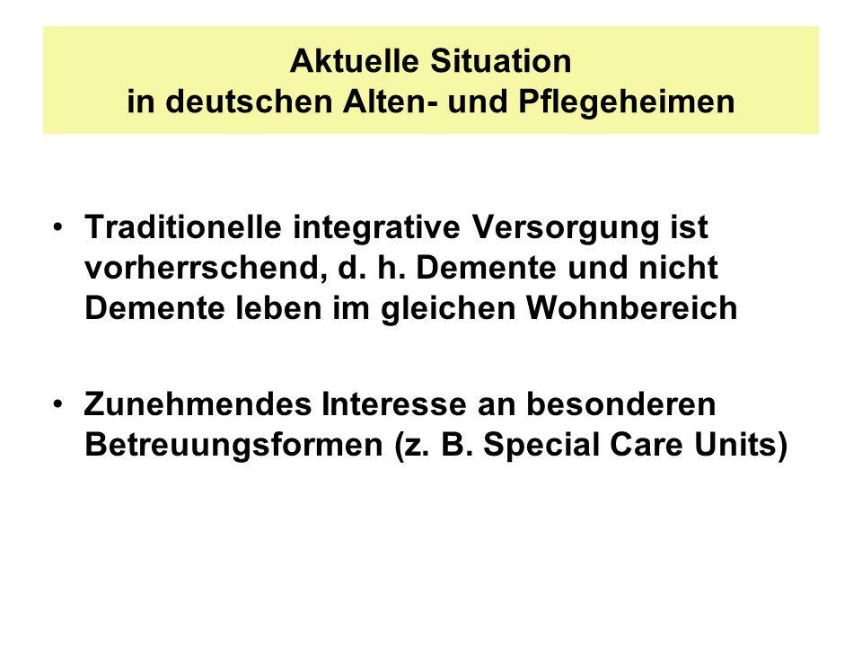 Aktuelle Situation in deutschen Alten- und Pflegeheimen