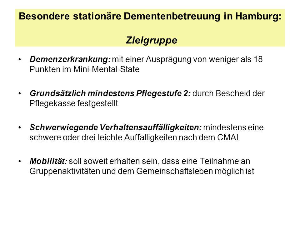 Besondere stationäre Dementenbetreuung in Hamburg: Zielgruppe