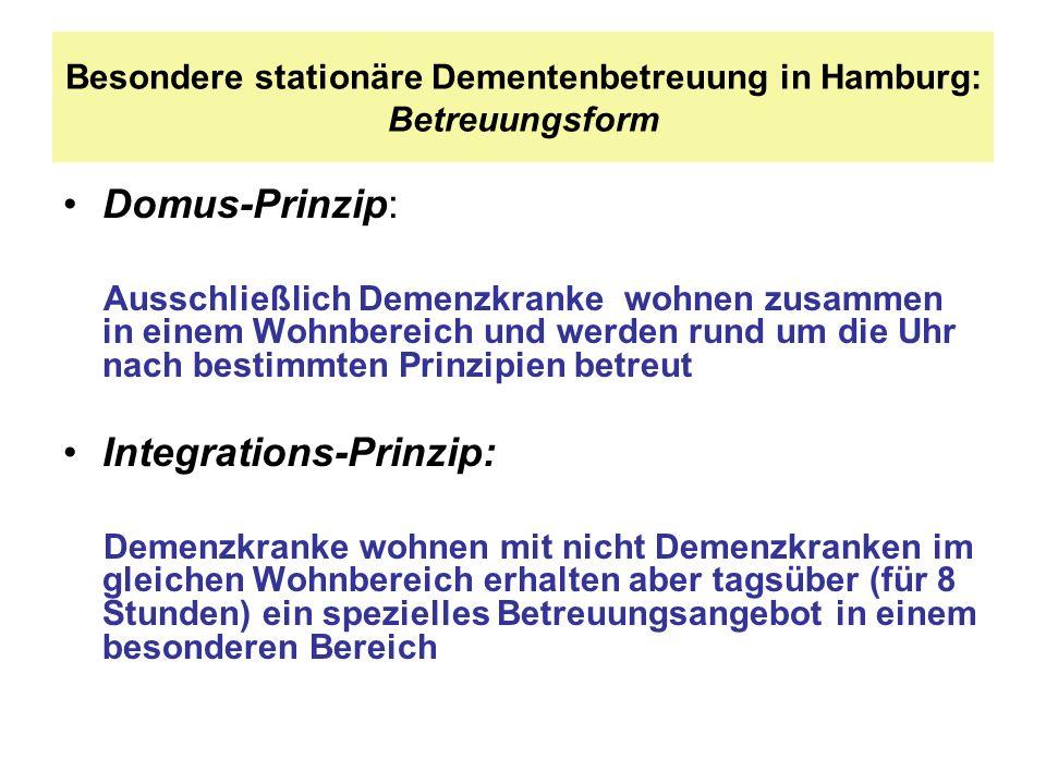Besondere stationäre Dementenbetreuung in Hamburg: Betreuungsform