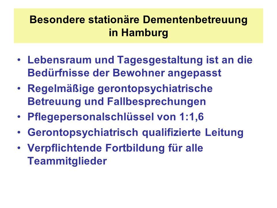 Besondere stationäre Dementenbetreuung in Hamburg