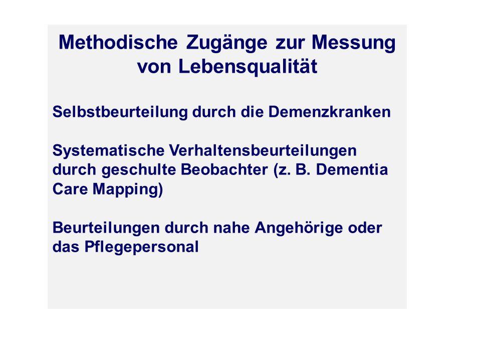 Methodische Zugänge zur Messung von Lebensqualität