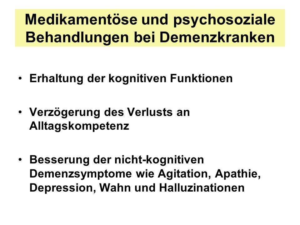 Medikamentöse und psychosoziale Behandlungen bei Demenzkranken