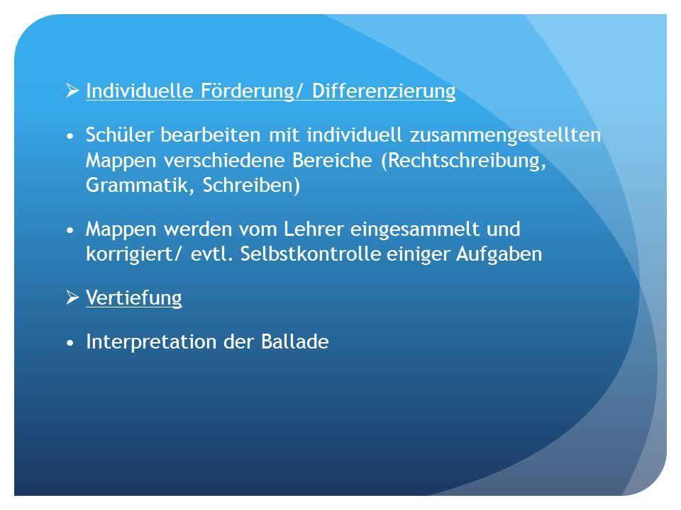 Individuelle Förderung/ Differenzierung