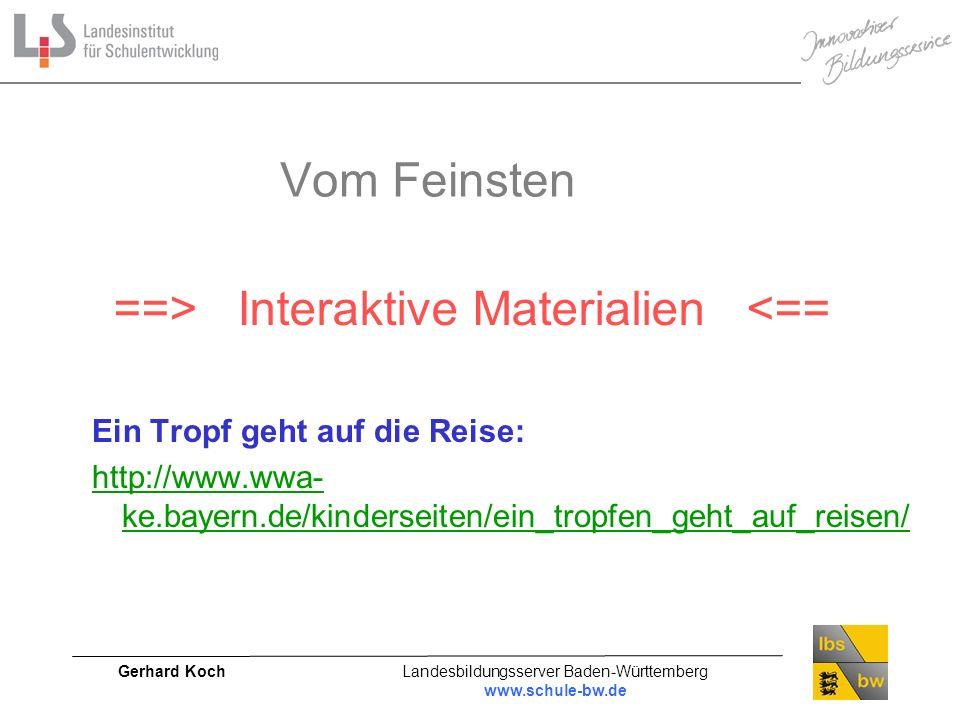 ==> Interaktive Materialien <==