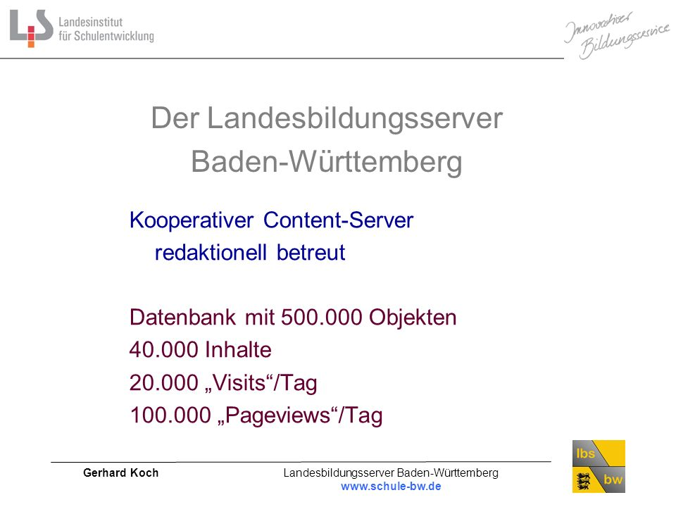 Der Landesbildungsserver Baden-Württemberg