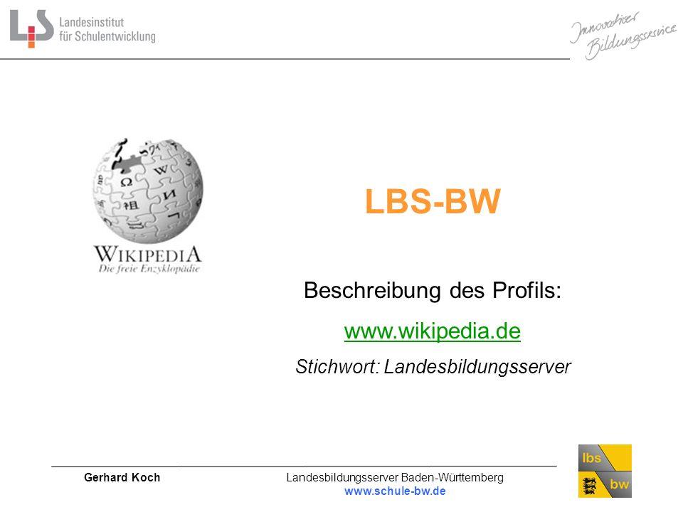 LBS-BW Beschreibung des Profils: www.wikipedia.de