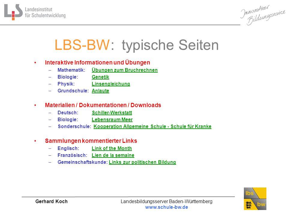 LBS-BW: typische Seiten