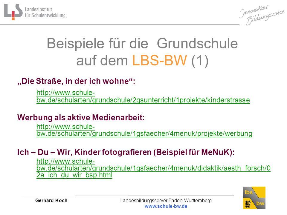 Beispiele für die Grundschule auf dem LBS-BW (1)
