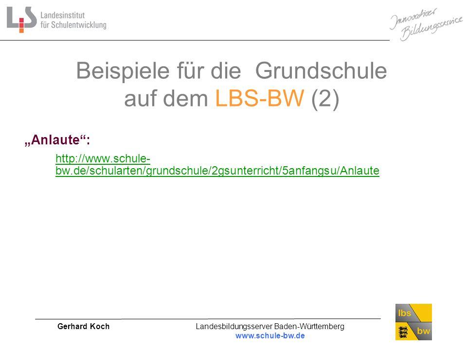 Beispiele für die Grundschule auf dem LBS-BW (2)