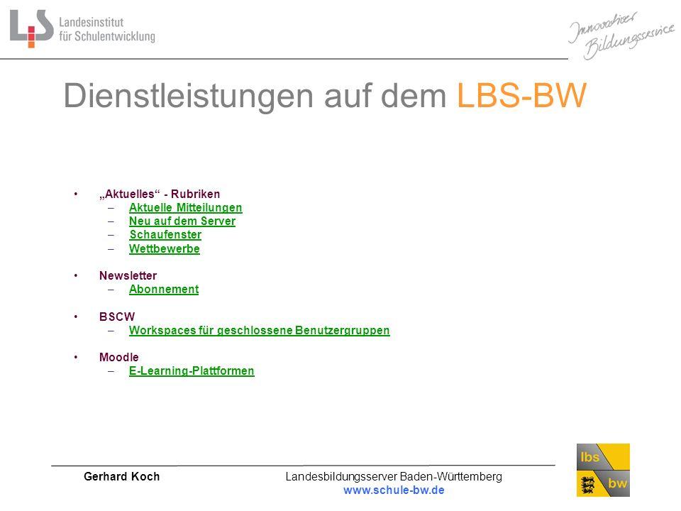 Dienstleistungen auf dem LBS-BW