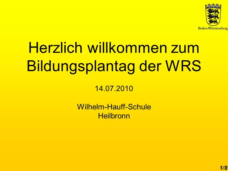 Herzlich willkommen zum Bildungsplantag der WRS