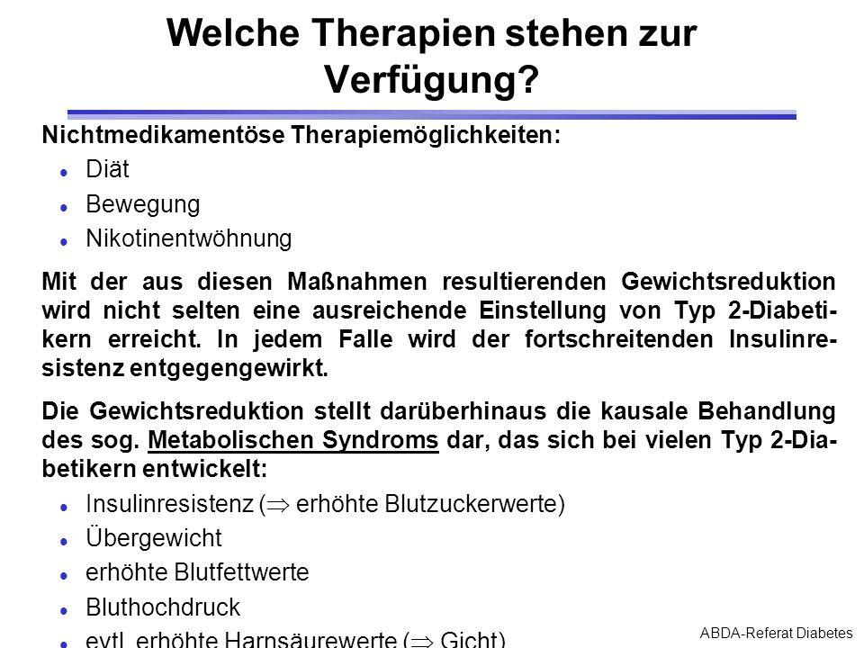 Welche Therapien stehen zur Verfügung