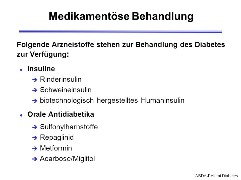 Diabetes: Therapien