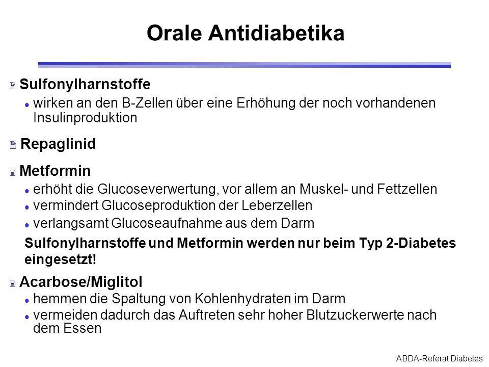 Orale Antidiabetika Repaglinid Sulfonylharnstoffe
