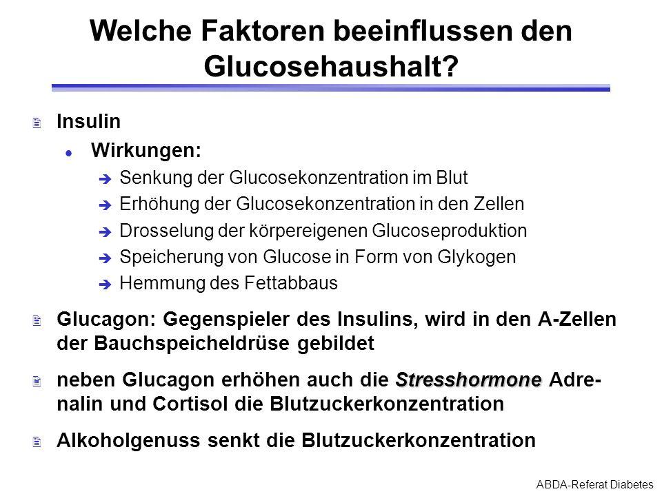 Welche Faktoren beeinflussen den Glucosehaushalt