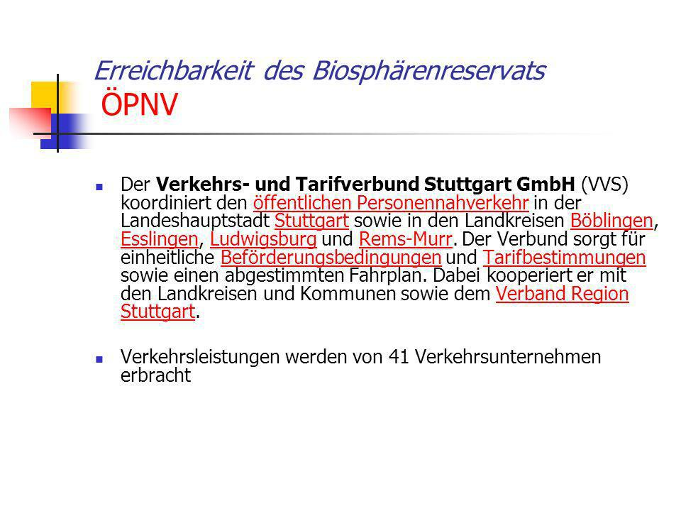 Erreichbarkeit des Biosphärenreservats ÖPNV