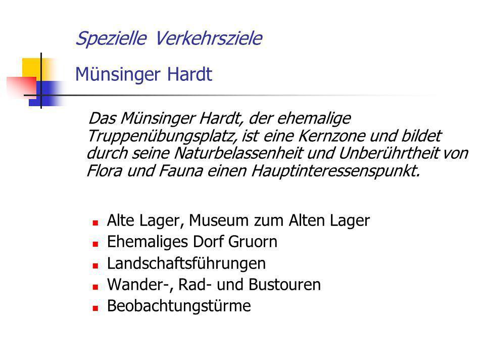 Spezielle Verkehrsziele Münsinger Hardt