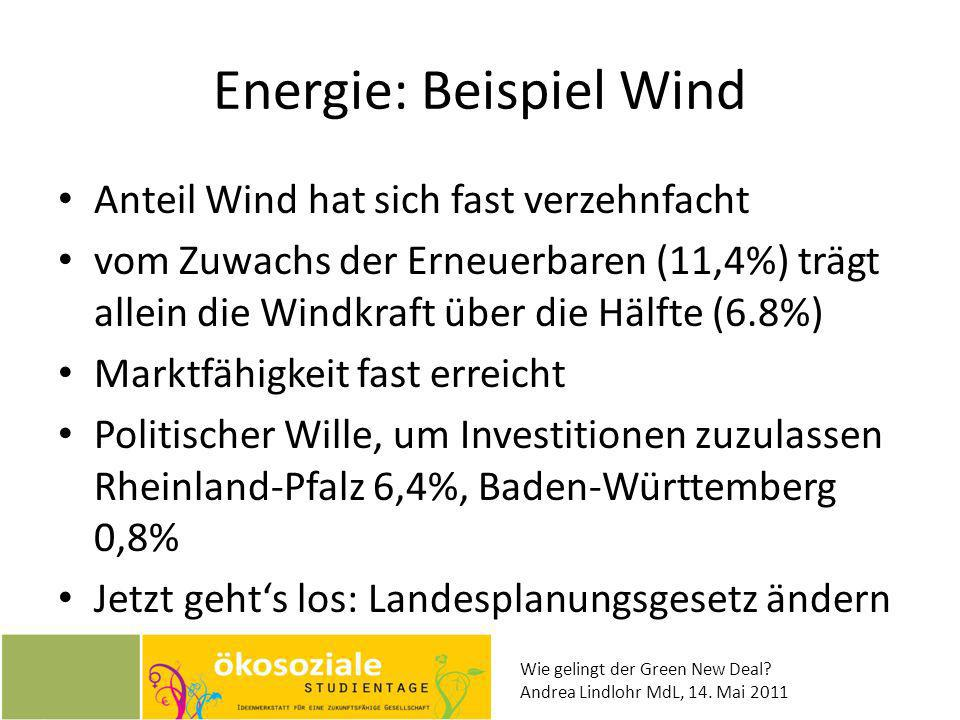 Energie: Beispiel Wind