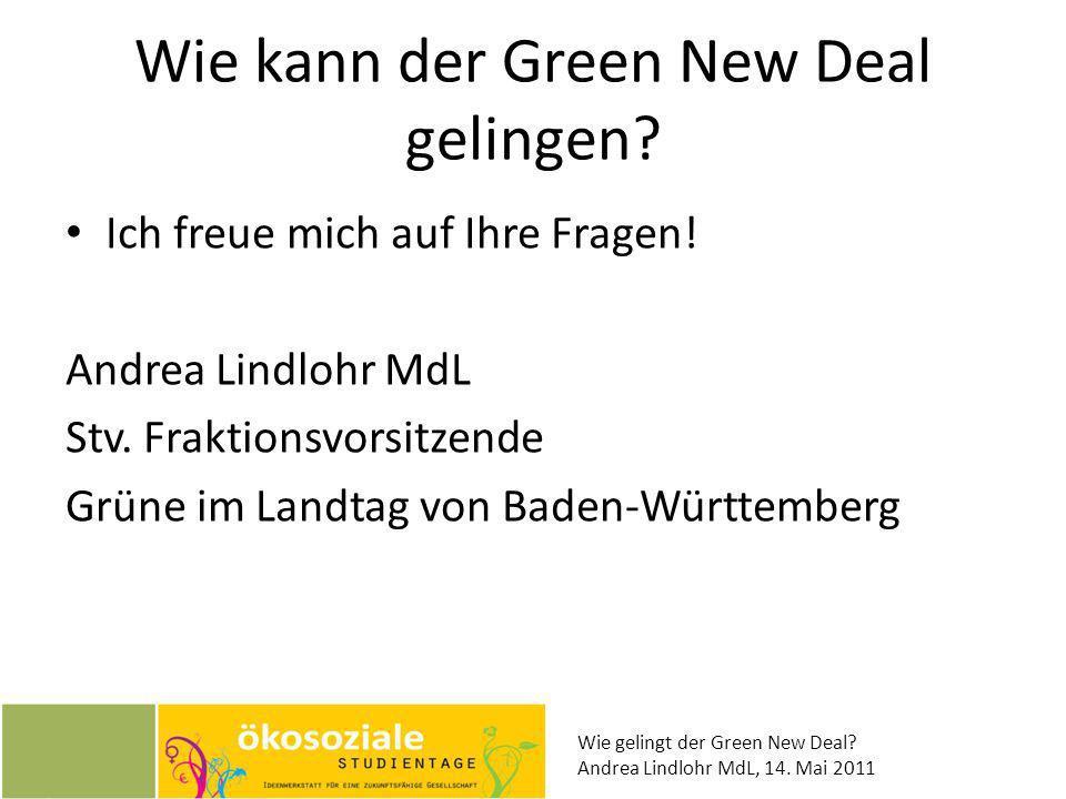 Wie kann der Green New Deal gelingen