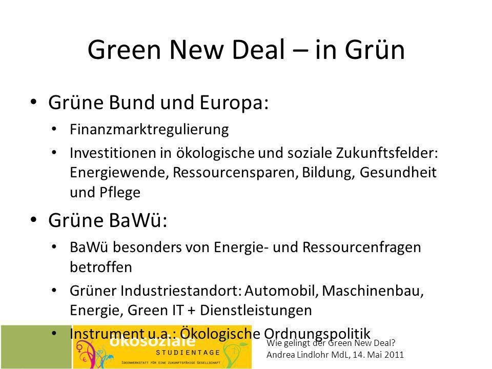 Green New Deal – in Grün Grüne Bund und Europa: Grüne BaWü: