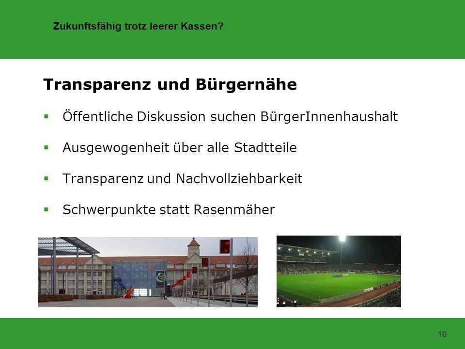 Transparenz und Bürgernähe