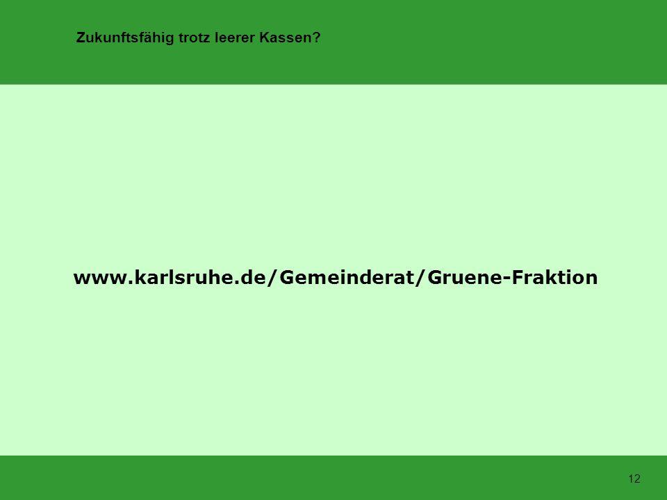 MOBILE-HUB www.karlsruhe.de/Gemeinderat/Gruene-Fraktion