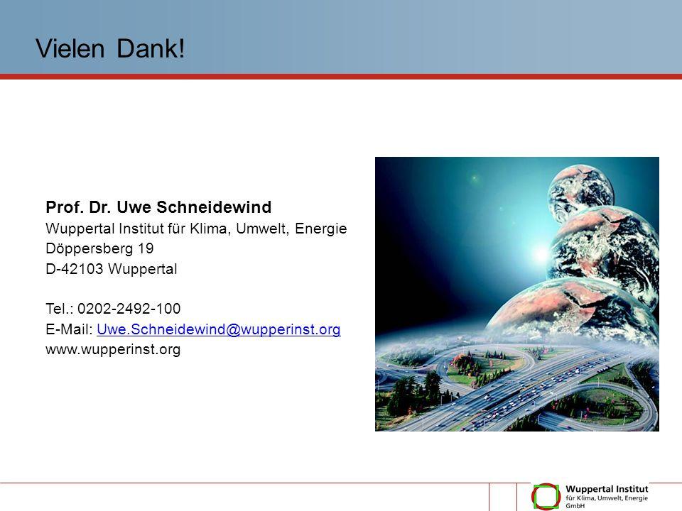 Vielen Dank! Prof. Dr. Uwe Schneidewind