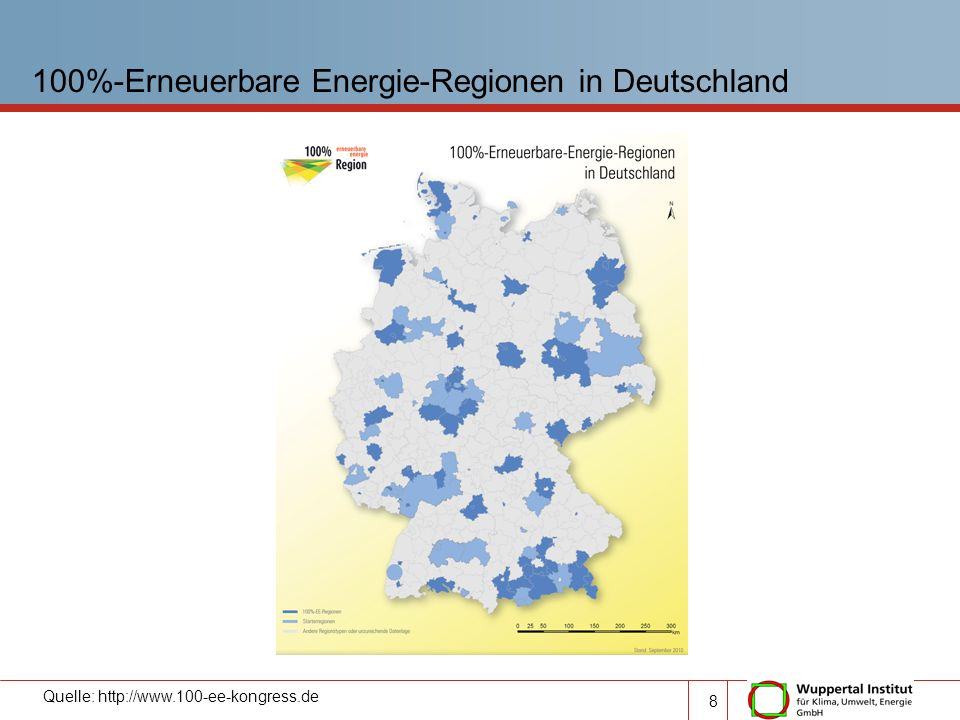 100%-Erneuerbare Energie-Regionen in Deutschland