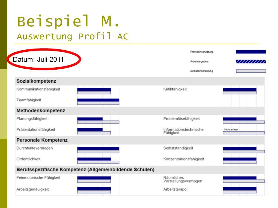 Beispiel M. Auswertung Profil AC
